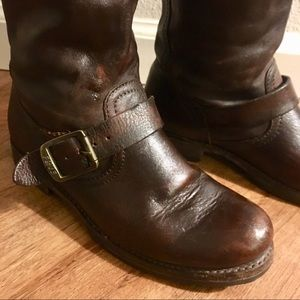 Frye Shoes - FRYE ^ Chocolate Knee High Leather Boots